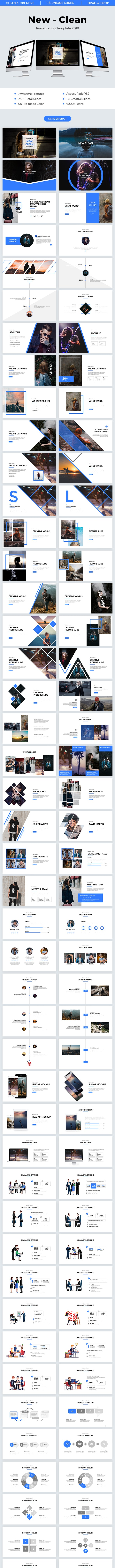 Clean Powerpoint Template 2018 - PowerPoint Templates Presentation Templates