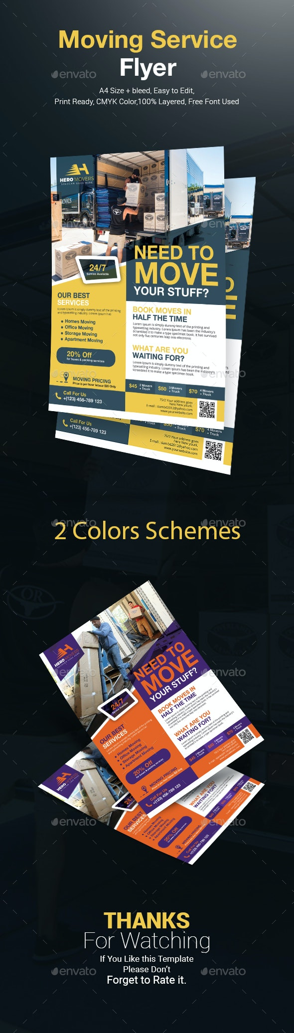 Moving Services Flyer Templates - Corporate Flyers