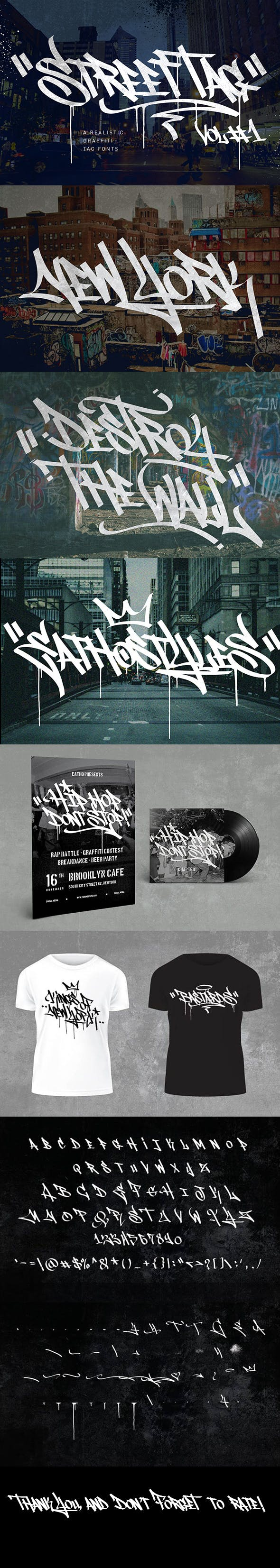Street tag vol 1 graffiti fonts