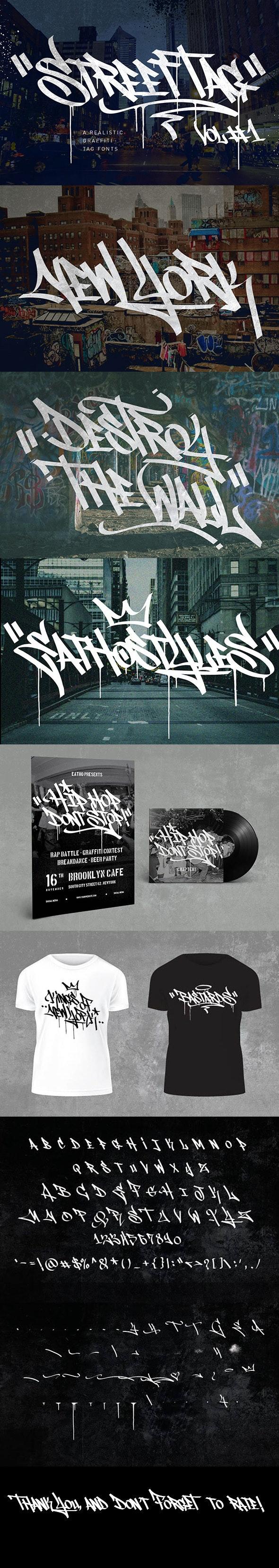 Graffiti Fonts | Street Tag Vol 1 - Graffiti Fonts