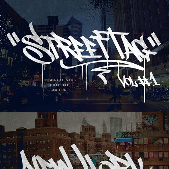 Graffiti Fonts | Street Tag Vol 1