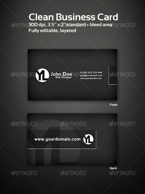 Elegant & Clean Business Cards - Corporate Business Cards