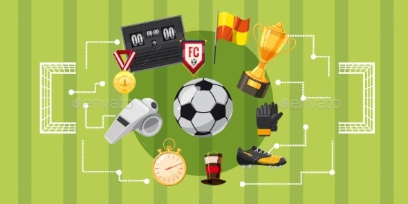 Soccer Football Banner Horizontal - Sports/Activity Conceptual