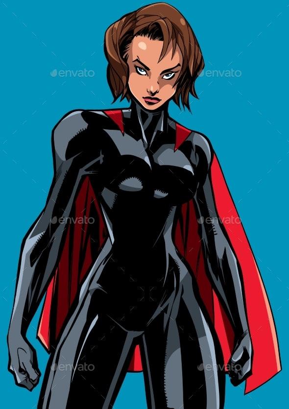 Superheroine Battle Mode No Mask - People Characters