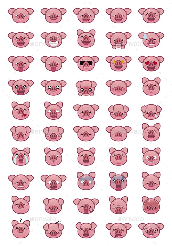 Pig Emoji - Miscellaneous Characters