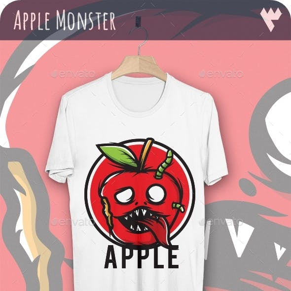 Red Apple Monster - T-Shirt Design