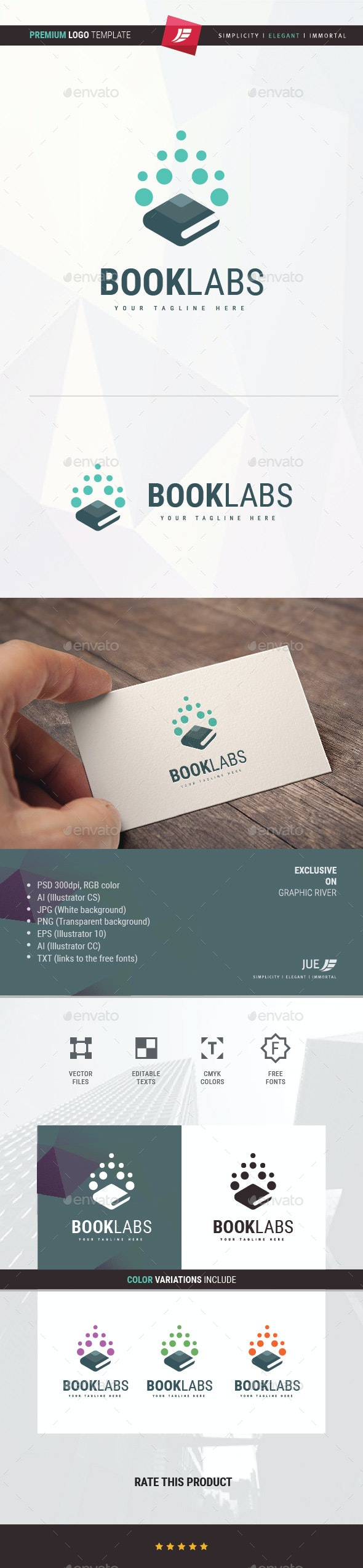 Book Lab Logo - College Logo Templates