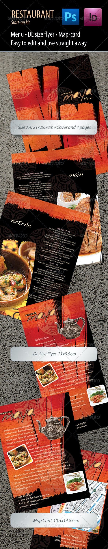 Restaurant Start-up Kit - Food Menus Print Templates