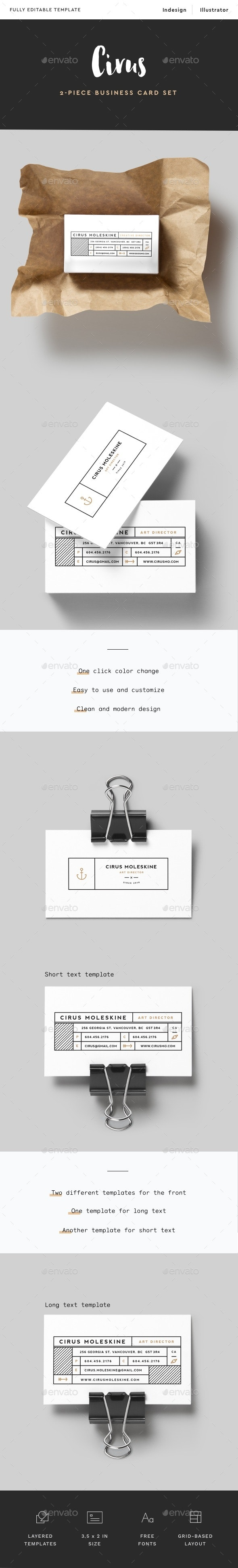 Minimal Modern Business Card - Business Cards Print Templates