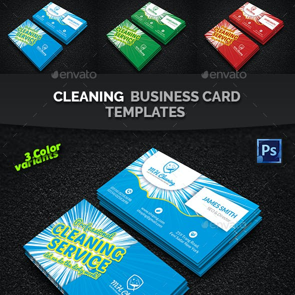 Cleaning Services Business Card Templates