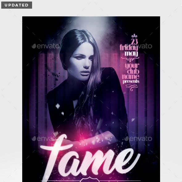 Fame Rocks Flyer Template