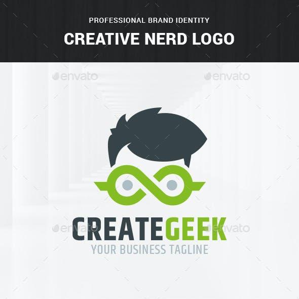 Creative Nerd Logo Template