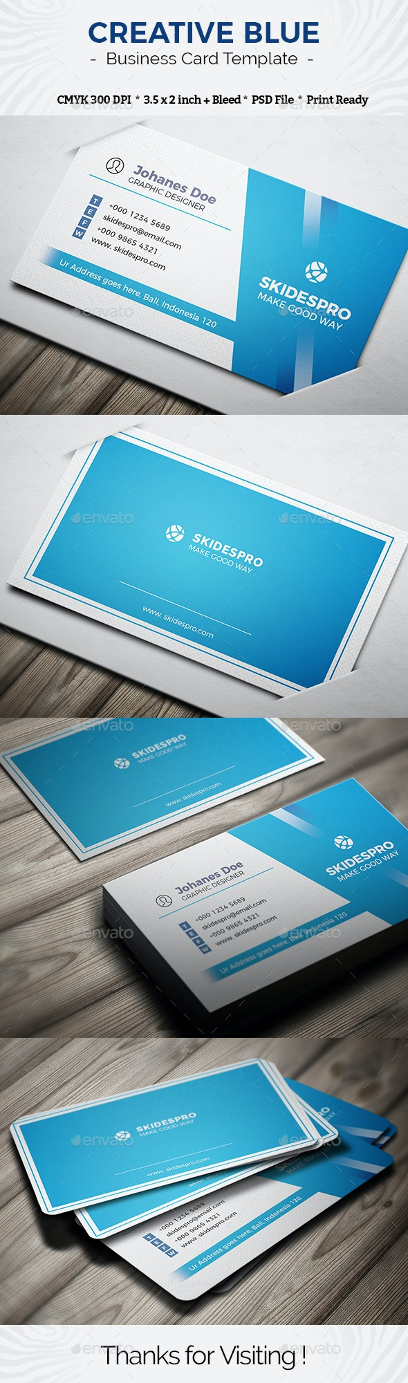 Creative Blue - Creative Business Cards