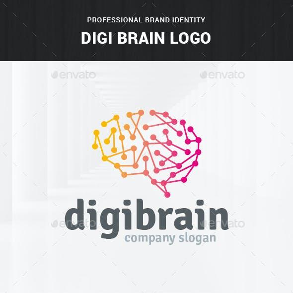 Digi Brain Logo Template