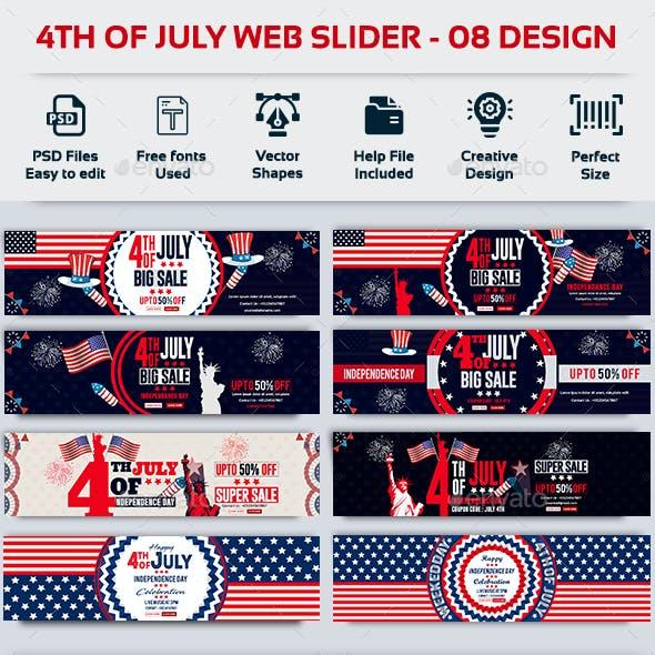 4th of July Web Slider-Bundle-8 Design