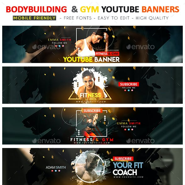 Bodybuilding & Gym YouTube Banner