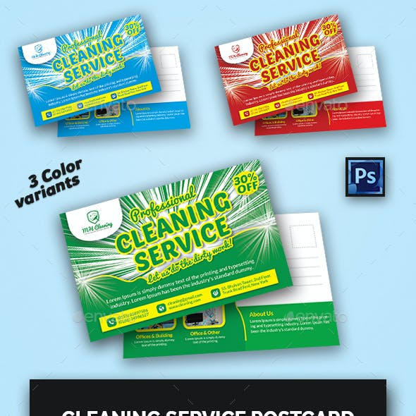 Cleaning Services Postcard Templates