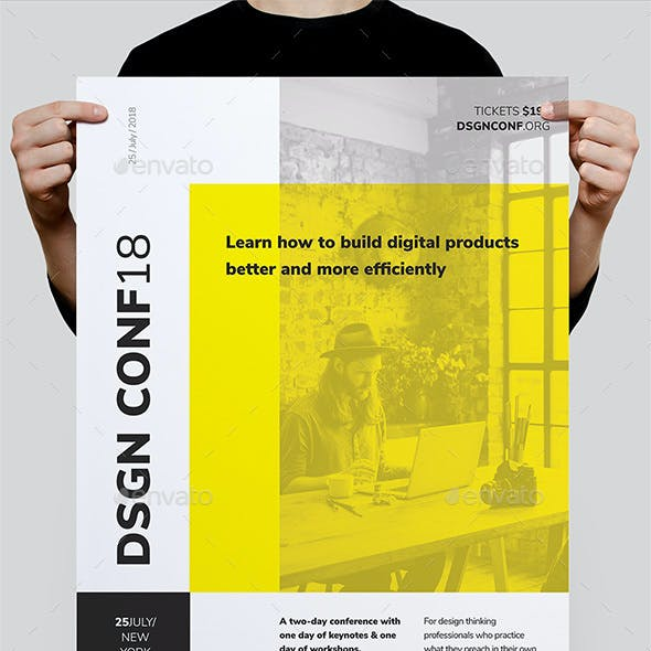 DSGN Series 7 Poster / Flyer Template