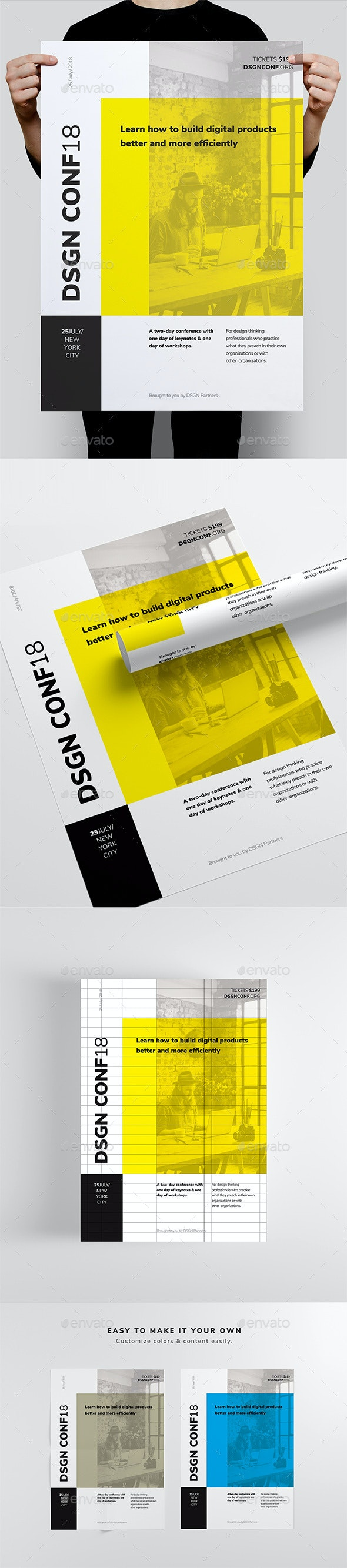 DSGN Series 7 Poster / Flyer Template - Corporate Flyers