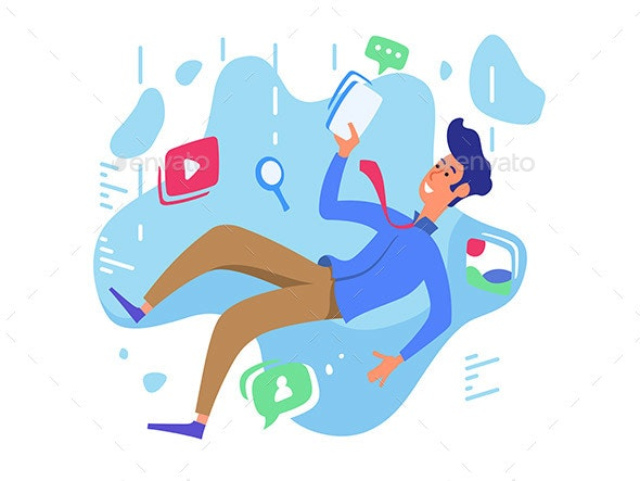 Surfing Web Network - People Characters