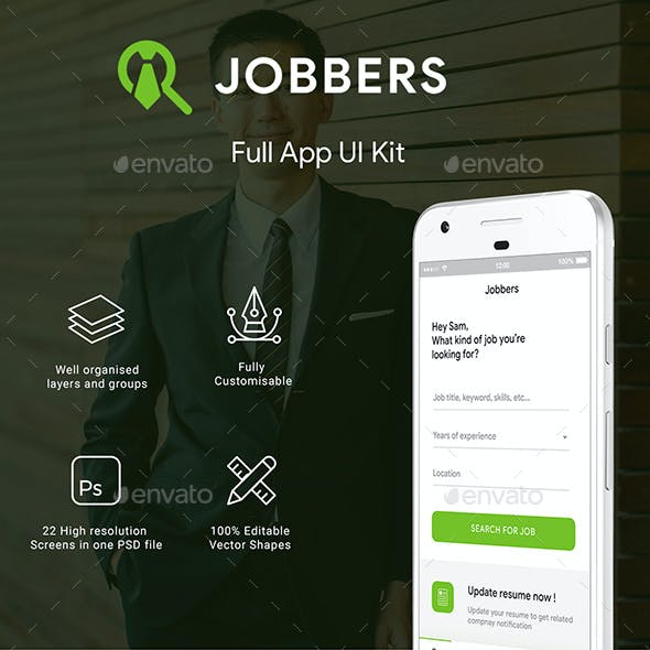 Job Search App UI Set   Jobber