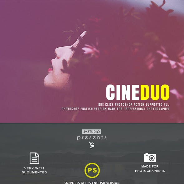 Cinematic Doutone photoshop Action