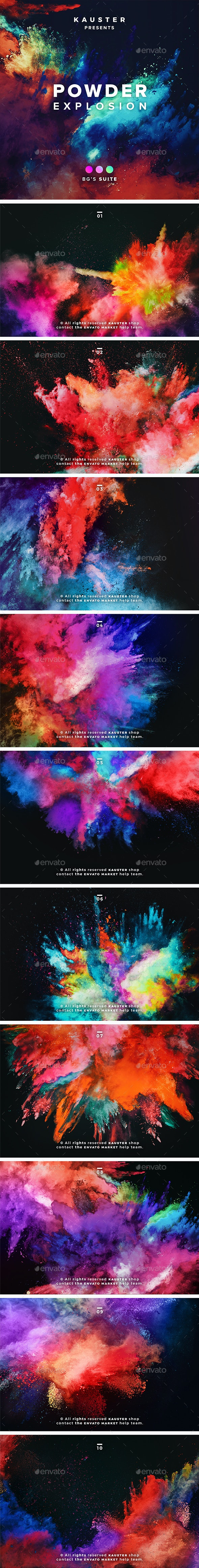 Powder Explosion Backgrounds - Abstract Backgrounds