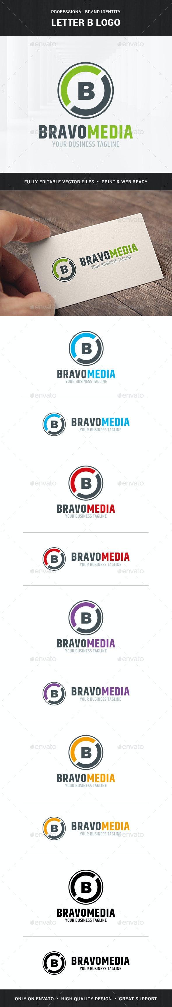 Letter B Logo Template - Letters Logo Templates