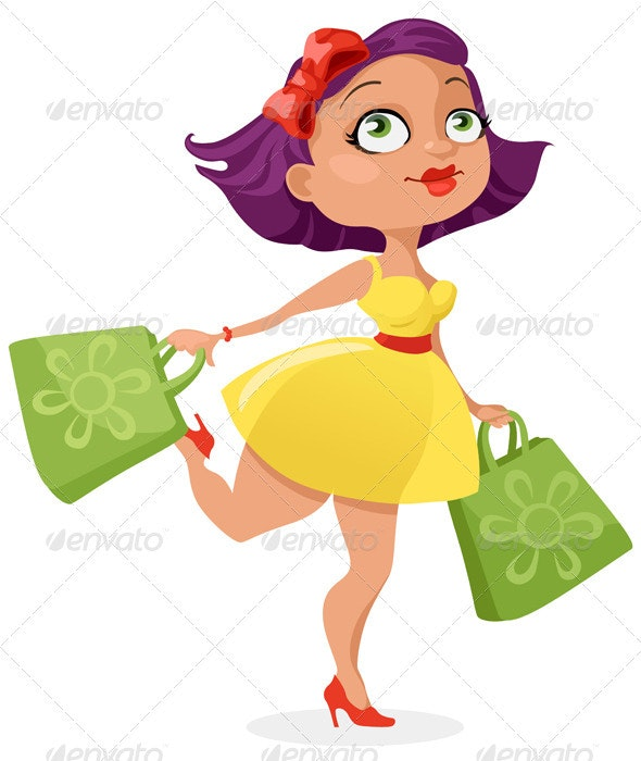 Shopping Girl - People Characters