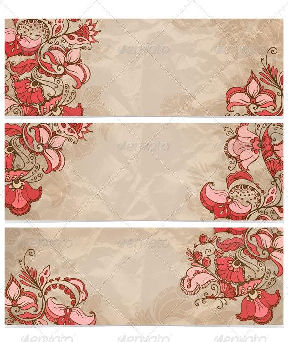 Bunner Flower Brown - Backgrounds Decorative
