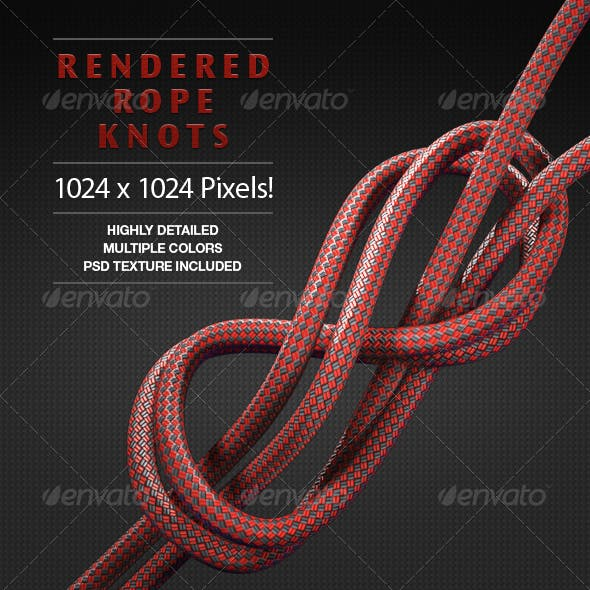 Rendered 3d Rope and Knots