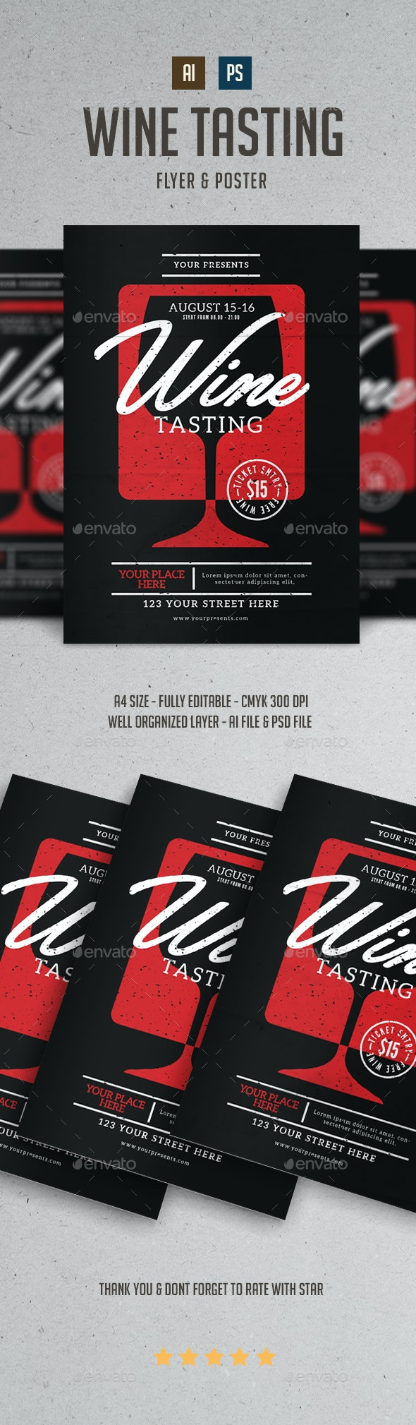Wine Tasting Flyer - Events Flyers