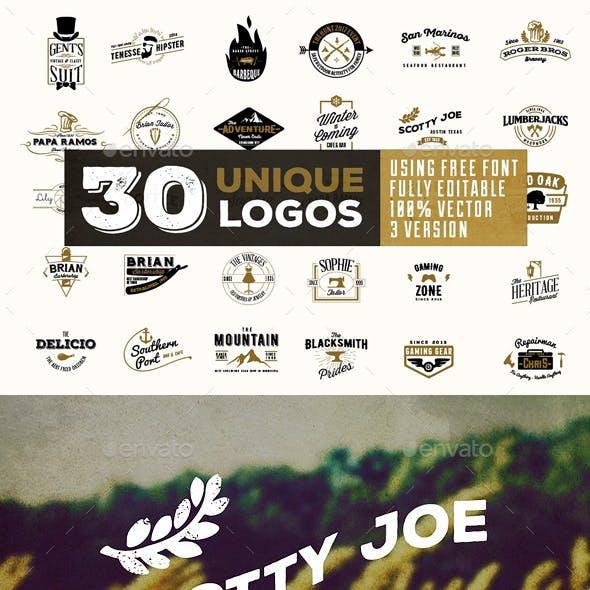 Komplit - 30 Vintage Badges