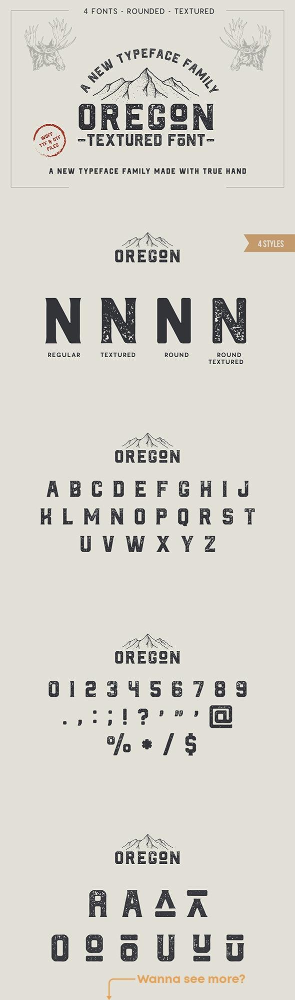 Oregon - Vintage Font