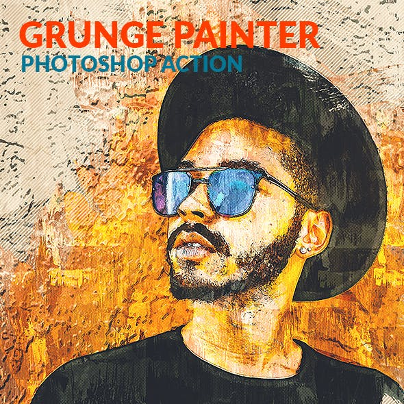 Grunge Painter Photoshop Action