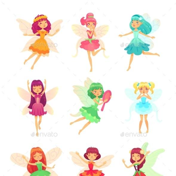 Cartoon Fairy Girls
