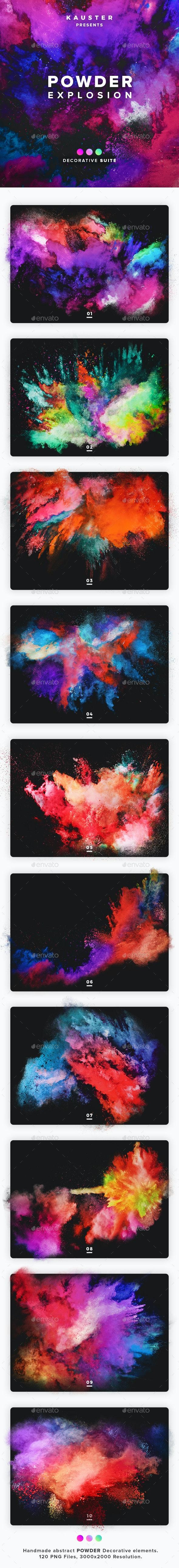 Powder Explosion Decorative Suite - Decorative Graphics