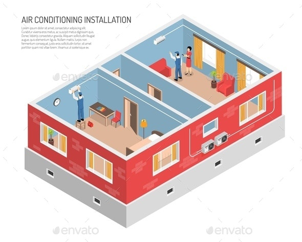 Domestic Climate Control Illustration - Buildings Objects