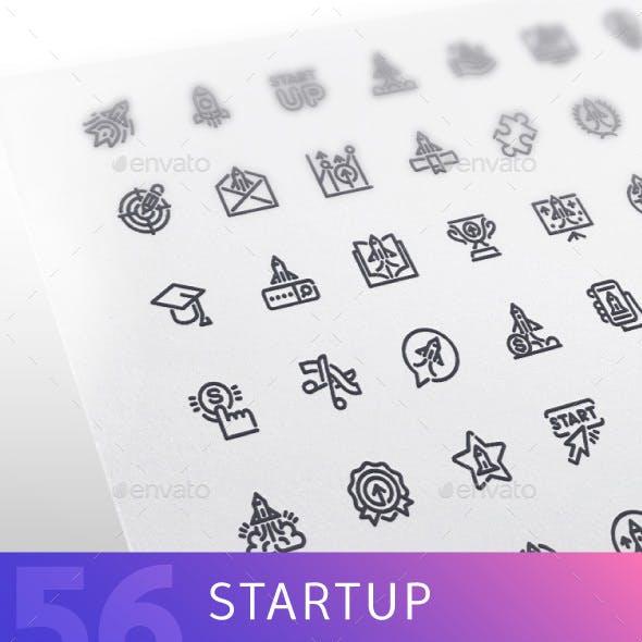 Startup Line Icons Set