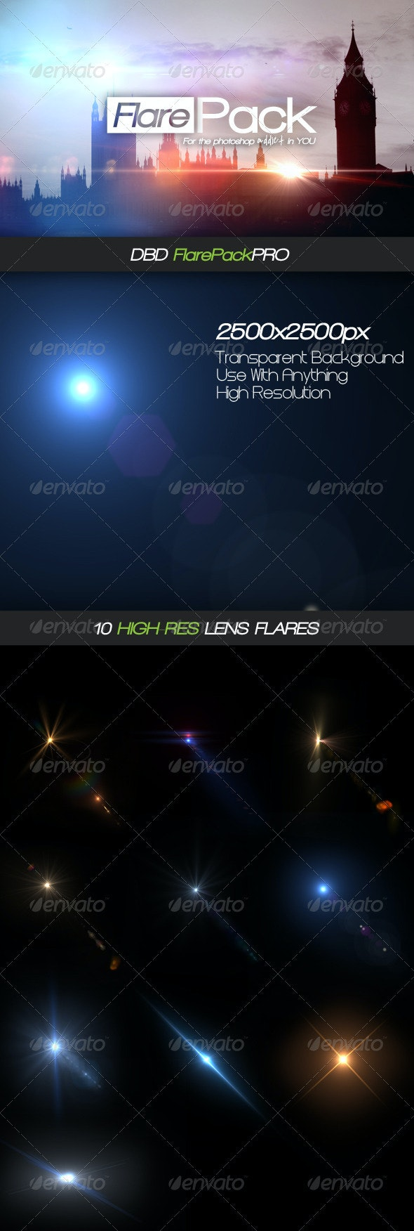DBD FlarePack PRO - 10 High-Res Flare PSD's - Miscellaneous Graphics