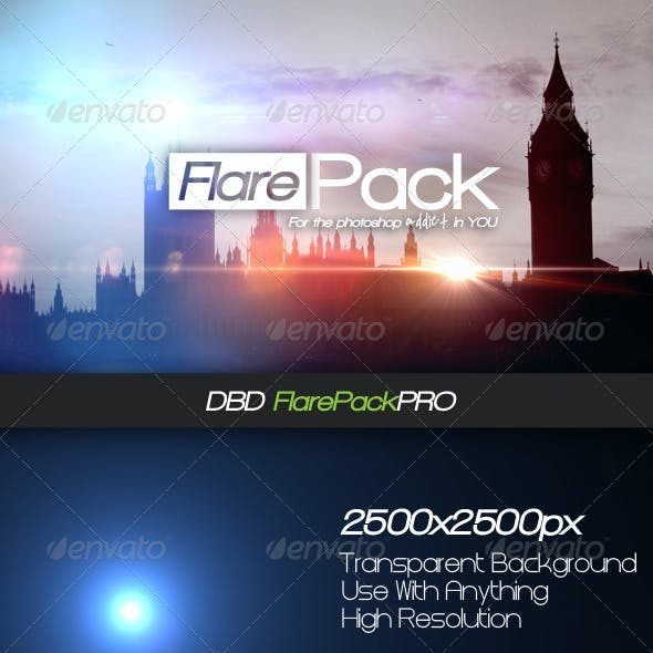 DBD FlarePack PRO - 10 High-Res Flare PSD's
