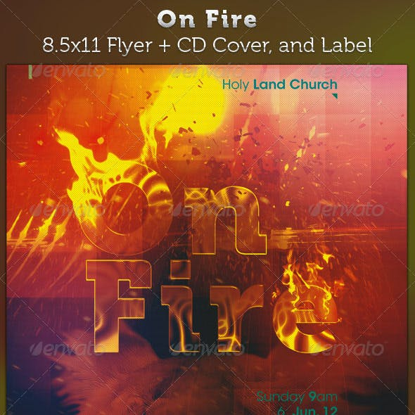 On Fire Full Page Flyer and CD Cover