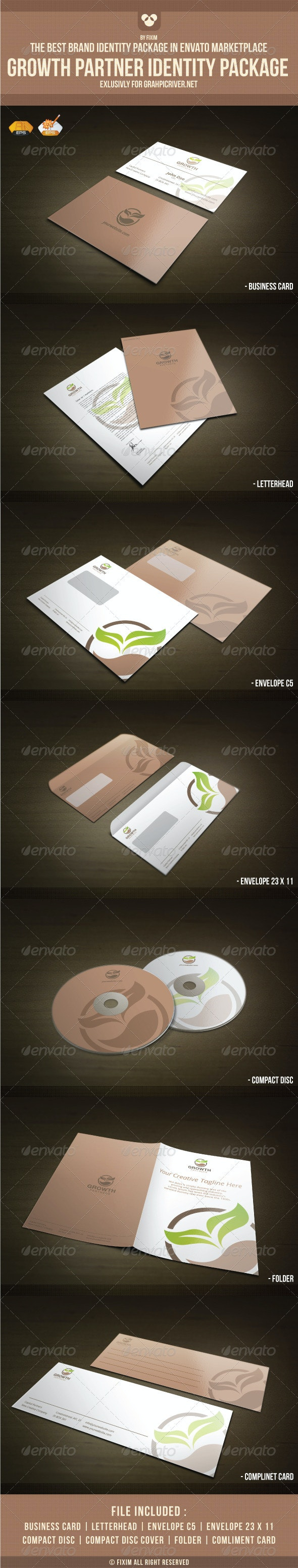 Growth Partners Identity Package - Stationery Print Templates