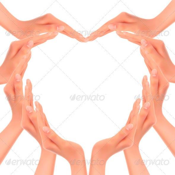 Hands Making a Heart