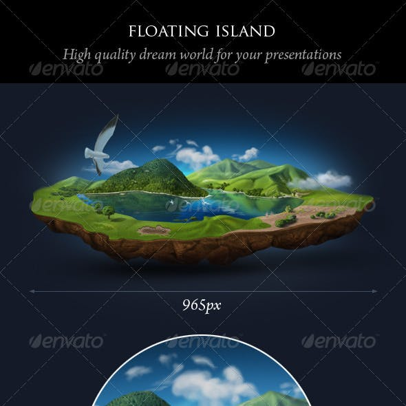 Realistic Floating Island
