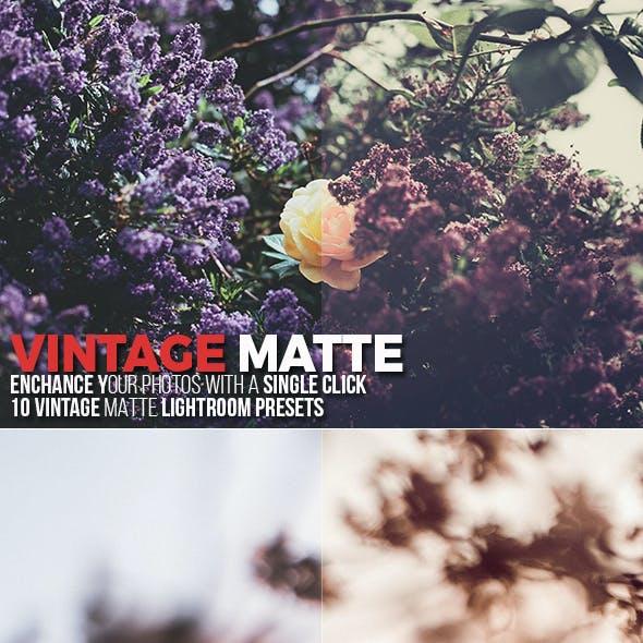 10 Vintage Matte Lightroom Presets
