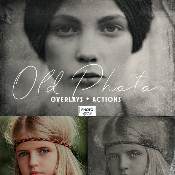 Old Photo Effect Overlays Actions
