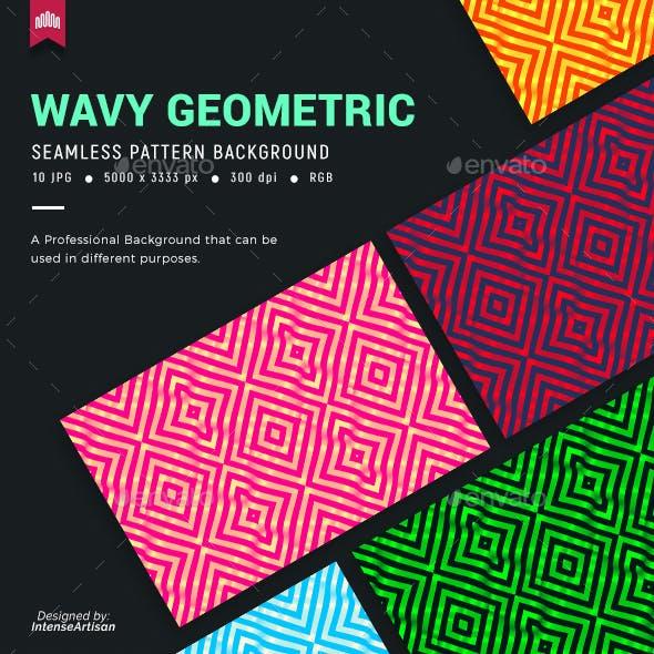 Wavy Geometric Seamless Pattern Background
