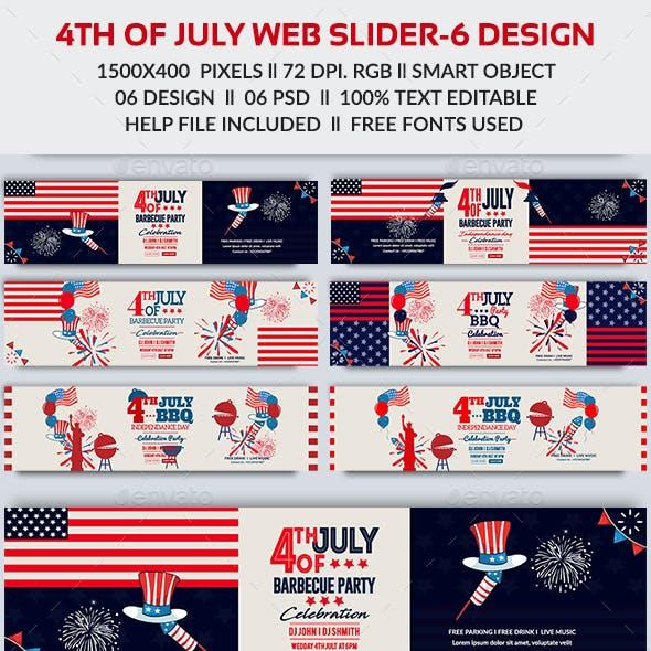 4th of July Web Slider-Bundle - 06 Design