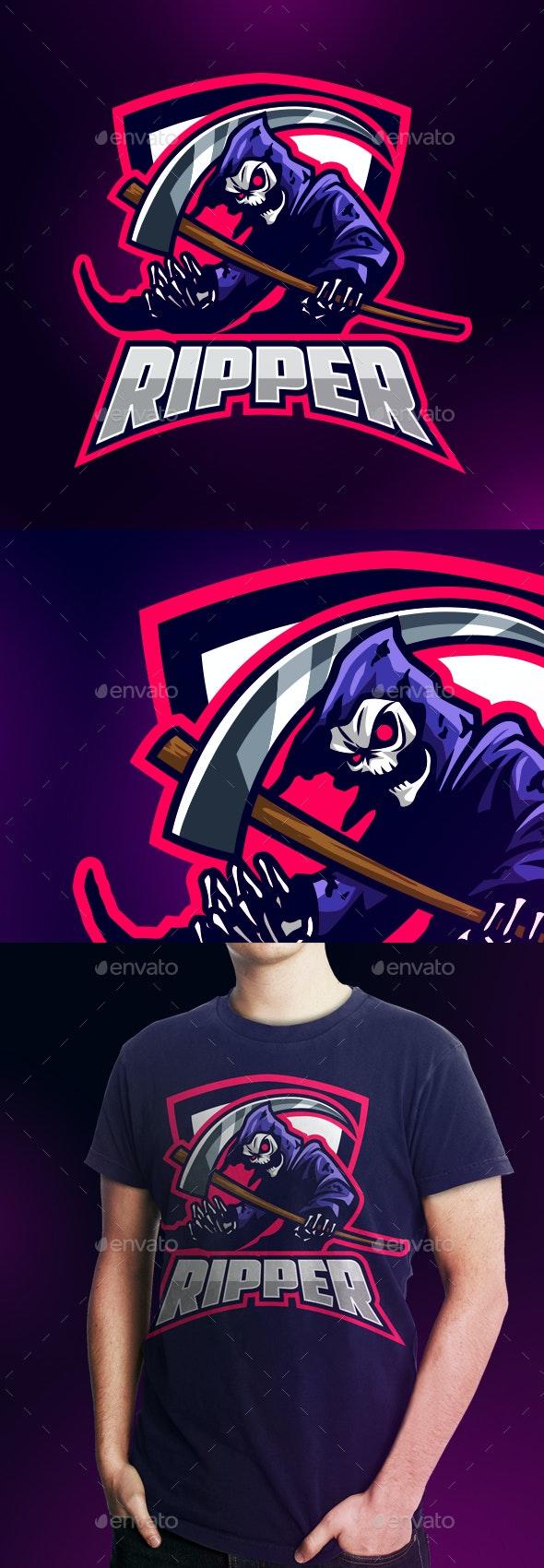 Esports Grim Reaper Logo - Sports Logo Templates